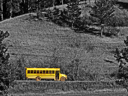 Country school bus route