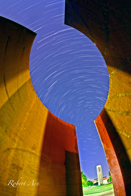 Giant Parentheses Star Trails