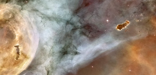 Carina Nebula Details: The Caterpillar