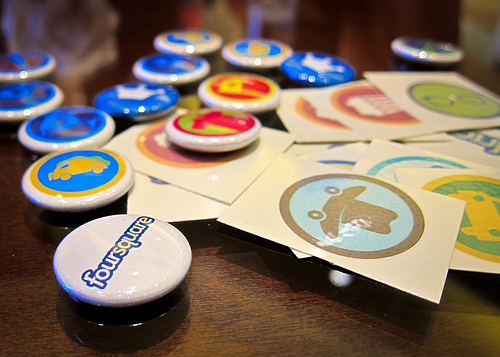 Foursquare Pins and Tattoos