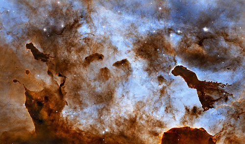 Hubble Captures Cosmic Ice Sculptures