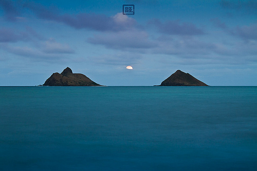 Moon Rise Over the Mokes