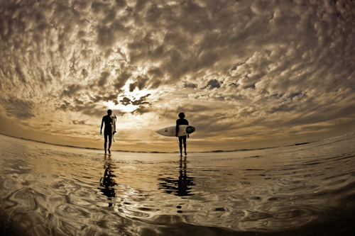 Sunset Surfers by Chaz Curry