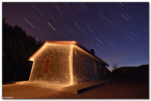 Monte San Leo, Nicolosi - Drawing with light