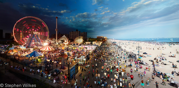 Coney Island Boardwalk, Day to Night