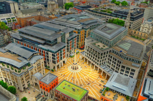 Paternoster Square Tilt Shift