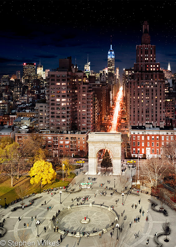 Washington Square, Day to Night