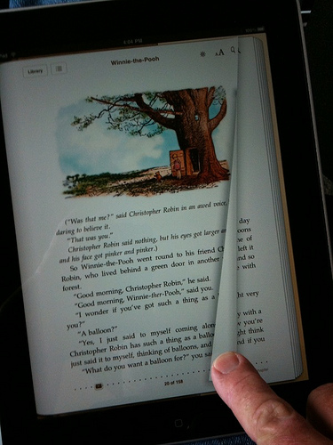 Turning a page on the iPad