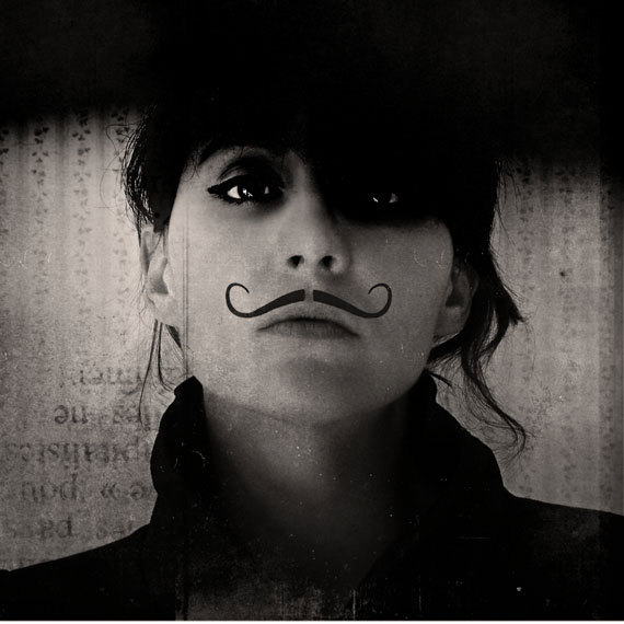 Black and White Photography Portrait - Ringleader Photograph - Mustache androgyny dark black surreal portrait movember Under 20
