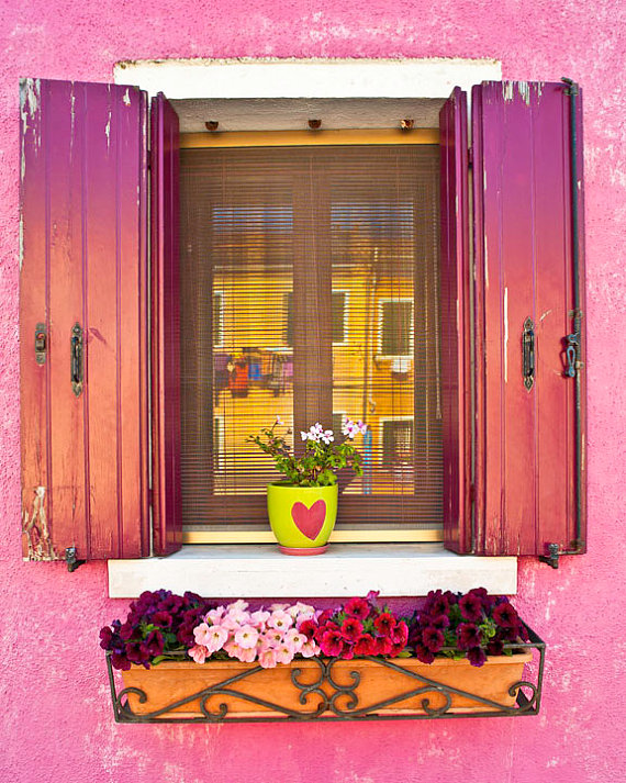 The Pink Window hanging laundry