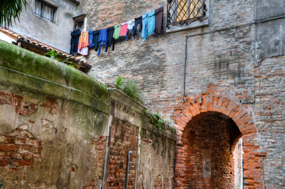 The Archway hanging laundry
