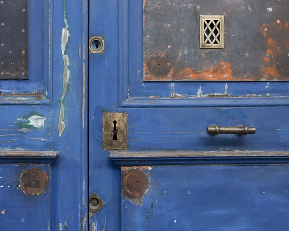 Blue door French Photo France