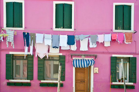 Clean Laundry, Pink House