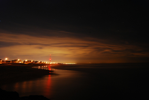 beach at night