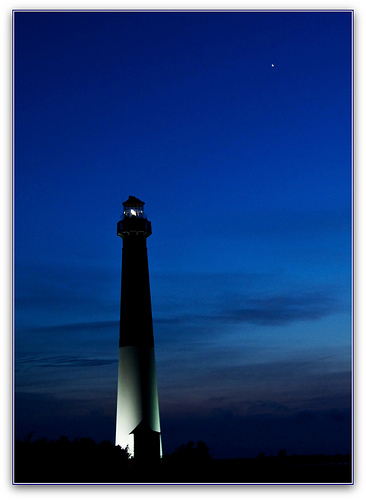 lighthouse at night north star