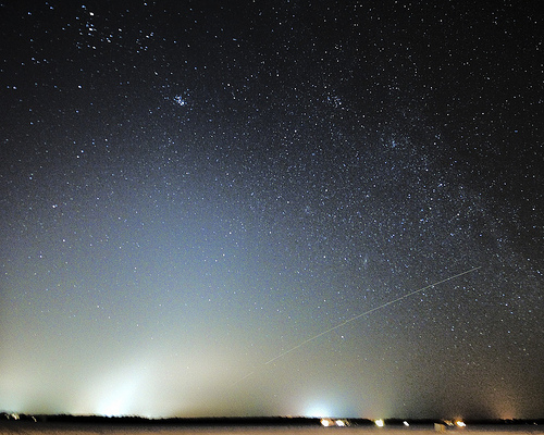 Zodiacal light Over Cumberland Beach at night