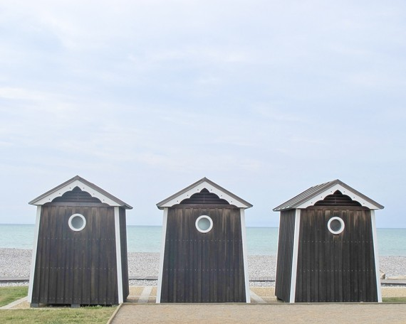 France Beach Cabins Brown - Normandy