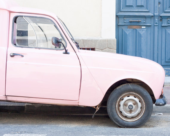 Pink French Car, South of France