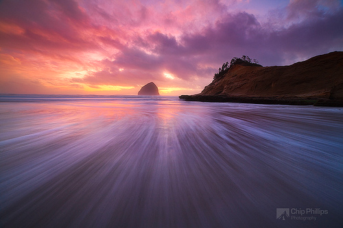 Haystack Rock and Cape Kiwanda Sunset