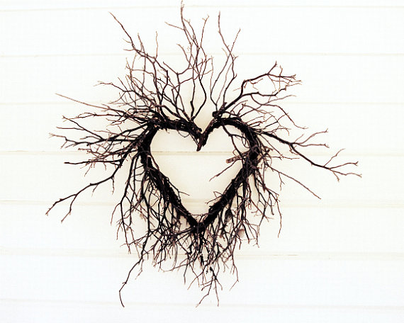 Tree branches photograph heart photo natural brown