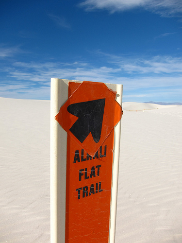 Trail marker White Sands