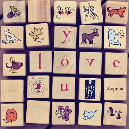 valentine love blocks nursery