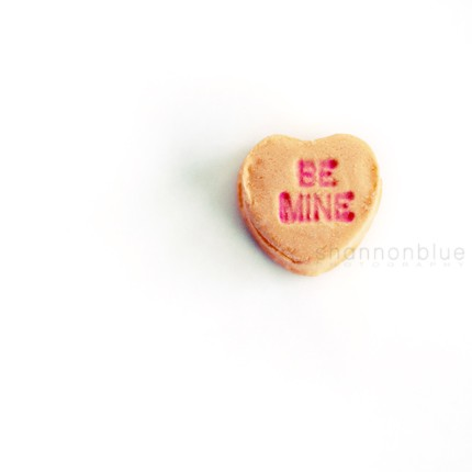 whimsical candy heart be mine