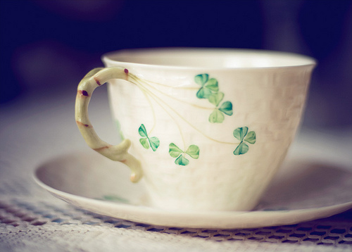 shamrock Irish teacup