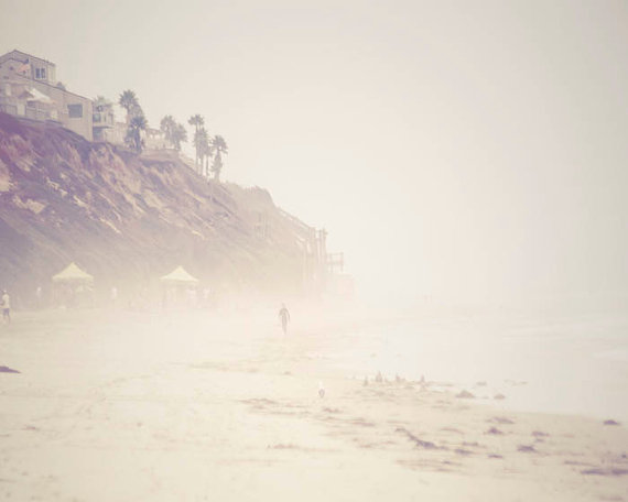 Misty Foggy Beach