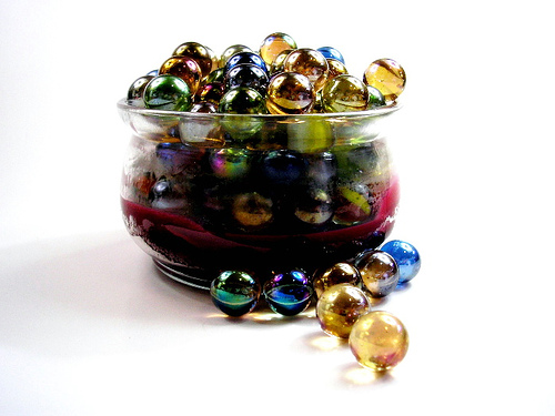 marbles in a pot