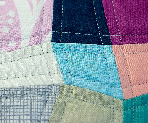 Detail of the Mini Quadrilateral Quilt