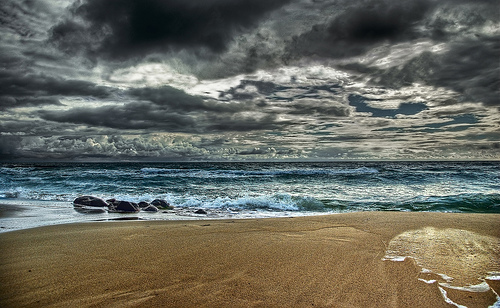 Stormy Beach Royalty Free Stock Photography - Image: 38675447
