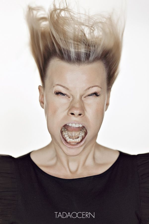 Fun Facial Expression Photos Created by Blowing Air from ...