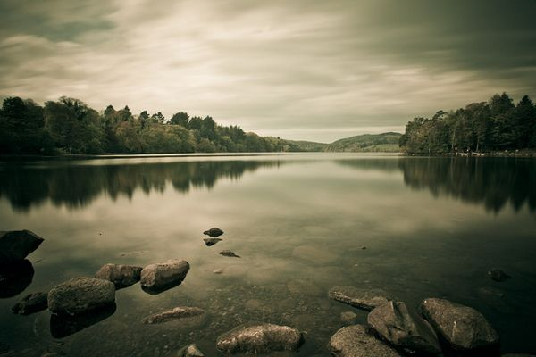 Castlewellan Lake before the rain