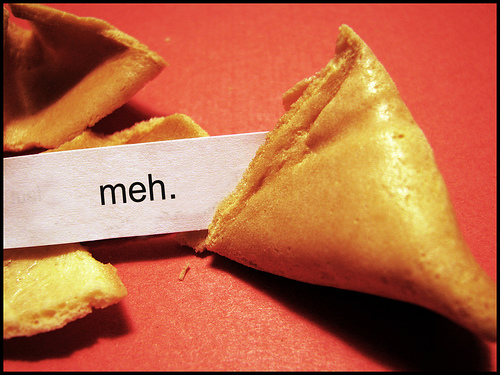 meh fortune cookie