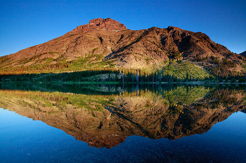 A mountain of a reflection...