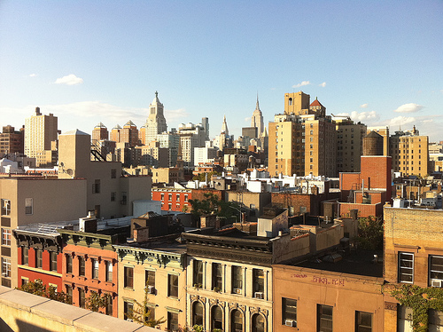 East village rooftop view