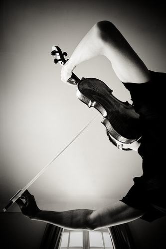 Self portrait violin