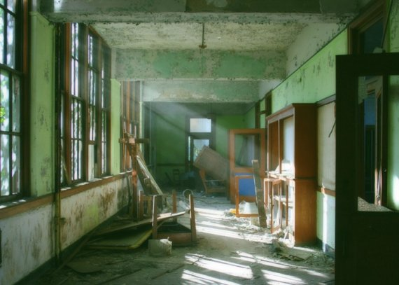 Green School urban decay detroit