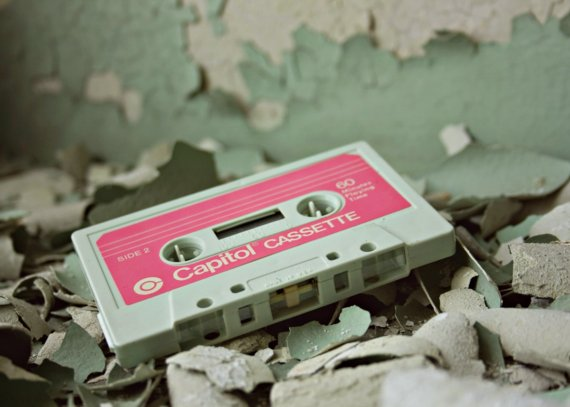 Old School urban decay abandoned cassette tape detroit