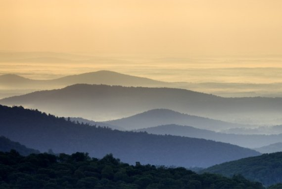 Blue Ridge Mountains in Shenandoah National Park, Virginia