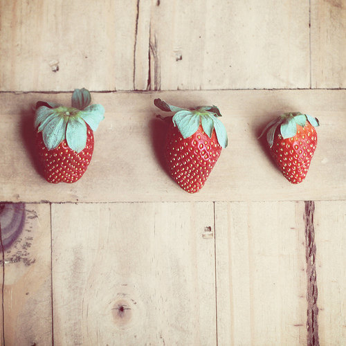 Strawberries three