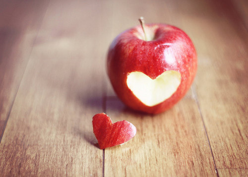 Carve your heart out yourself apple