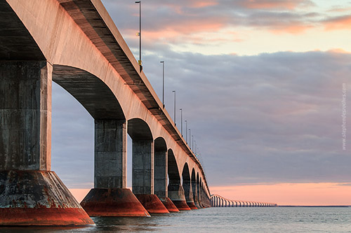 Confederation Bridge in New Brunswick leading to Prince Edward Island - Canada