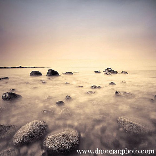 Long exposure coastal photo of Block Island, 15 seconds, by Dave Noonan