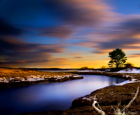 Long exposure photograph of Maple Juice Cove in Cushing, Maine, 400 seconds