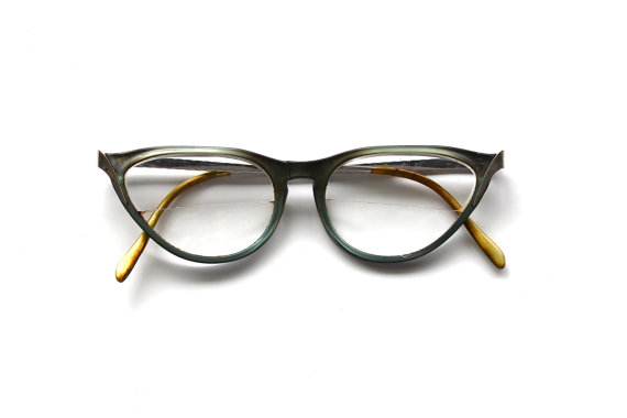 What Do You See Vintage Cat Eye Glasses