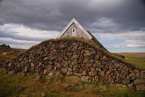 Sheep shed Iceland