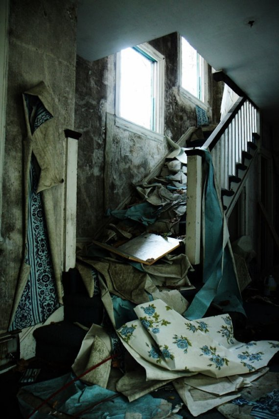 Mayhem abandoned house