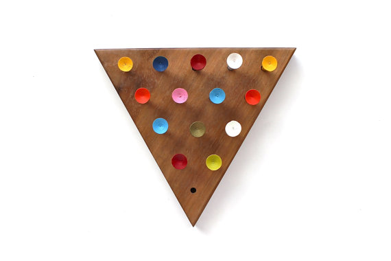Game Night Vintage Geometric Peg Board Game